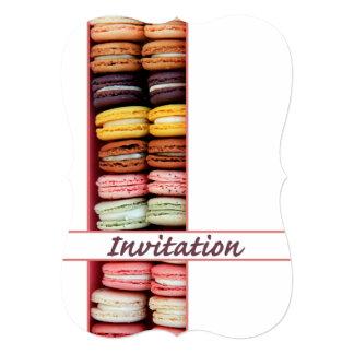 Birthday party invitation macaron