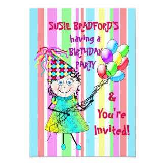 BIRTHDAY PARTY INVITATION -PARTY TIME PERSONALIZE