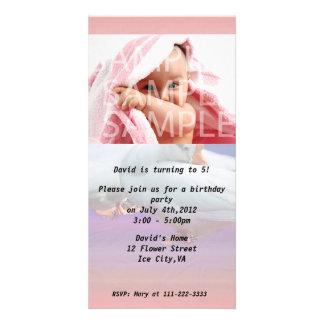 birthday party invitation photo greeting card