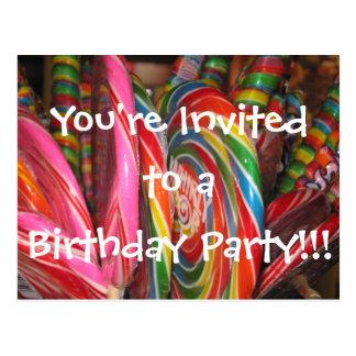Birthday Party Invitation Postcard for Kids