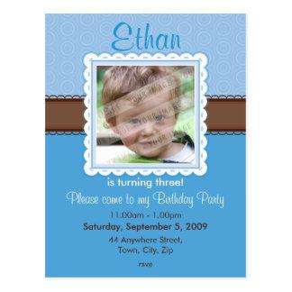 BIRTHDAY PARTY INVITATION :: prettily 3 Postcard