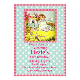 Birthday Party Invitation Raggedy Ann and Andy