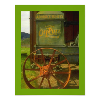 BIRTHDAY PARTY INVITATION -VINTAGE GREEN TRACTOR