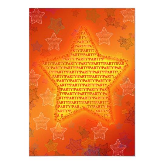 Birthday party invitation with bright stars