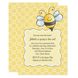 Bumblebee birthday invitations zazzle birthday party invitation yellow bumblebee filmwisefo