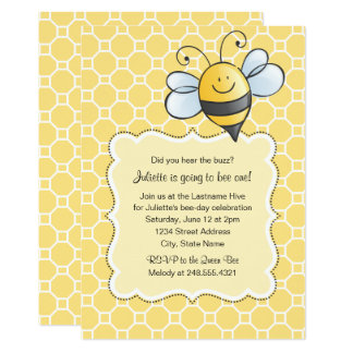 Birthday Party Invitation | Yellow Bumblebee