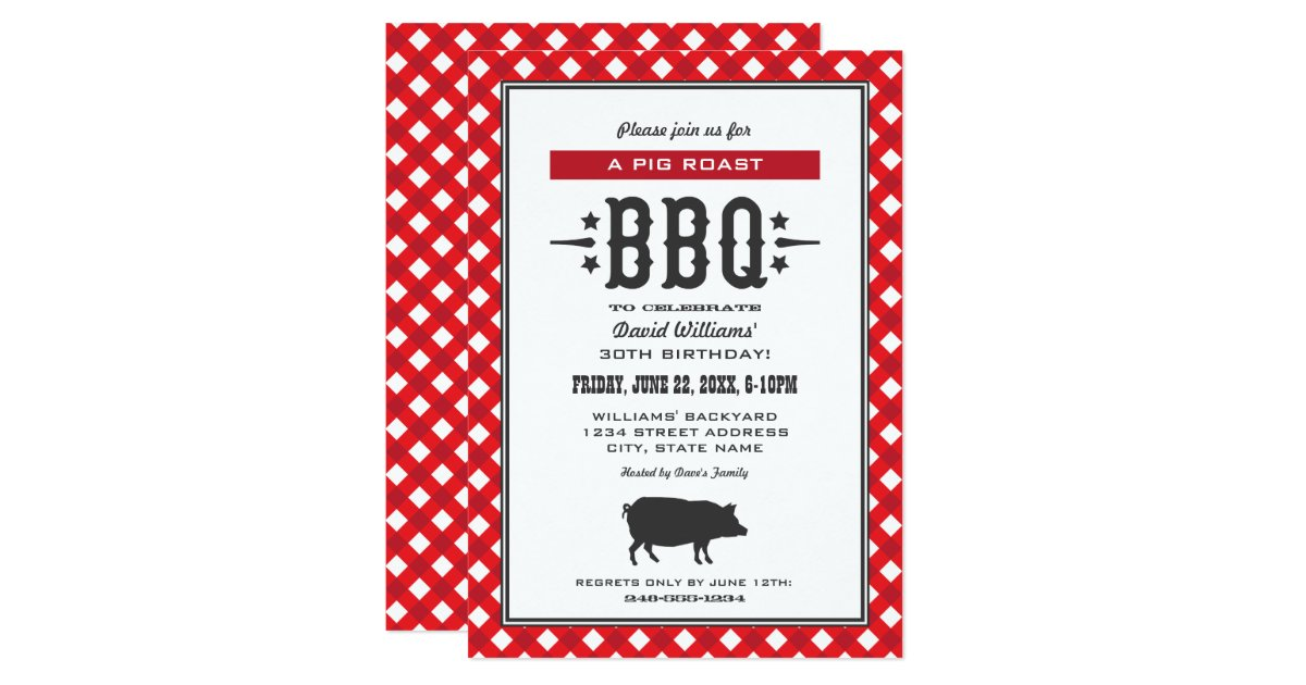 Bbq Party Invitations Announcements – Red Party Invitations