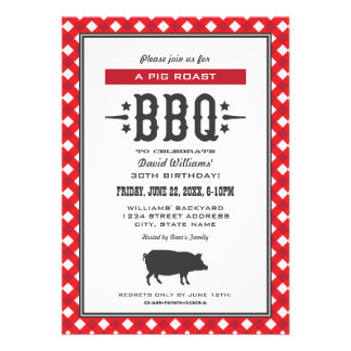 Birthday Party Invitations Backyard BBQ Theme