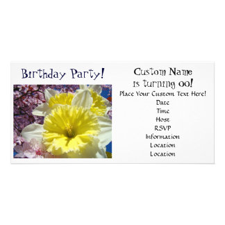Birthday Party! Invitations Cards Daffodil Flowers