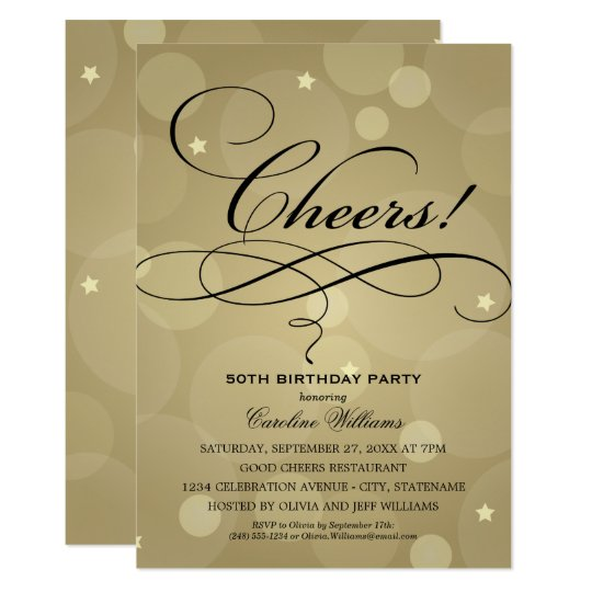 Birthday Party Invitations Champagne Gold Theme – Champagne Party Invitations