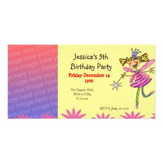 Birthday party invitations (flower fairy)