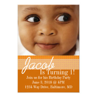 Birthday Party Invite B-Day or