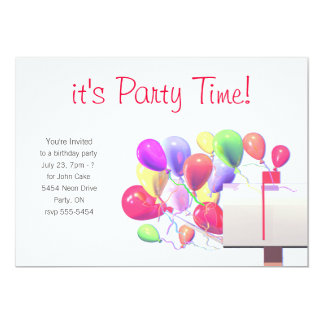 Birthday Party Invite Balloon Mail