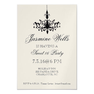 Birthday Party Invite | Chandelier |metallic