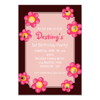 Birthday Party Invite | Cute Flower |dbr