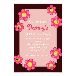 Birthday Party Invite | Cute Flower |dbr