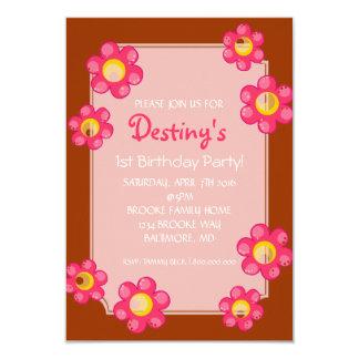 Birthday Party Invite | Cute Flower |gobr