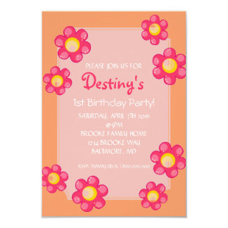 Birthday Party Invite | Cute Flower |pch