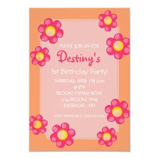 Birthday Party Invite | Cute Flower |pch