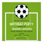 Birthday Party invite - Soccer Field