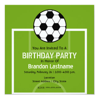 Birthday Party invite - Soccer Field
