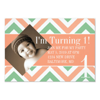 Birthday Party Invite | Turning |chevpchmulti