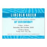 "BIRTHDAY PARTY INVITES :: animal print 1L 5"" X 7"" Invitation Card"
