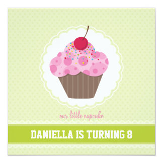 BIRTHDAY PARTY INVITES :: cupcake 2SQ