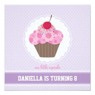 BIRTHDAY PARTY INVITES :: cupcake 4SQ