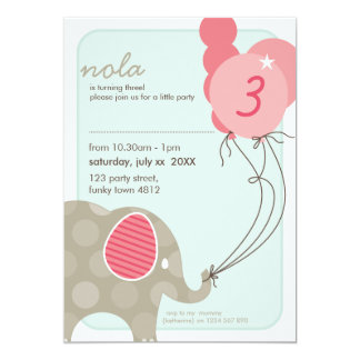 Elephant Birthday Invitations is an amazing ideas you had to choose for invitation design