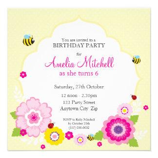 BIRTHDAY PARTY INVITES garden theme 1