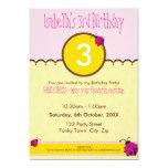 "BIRTHDAY PARTY INVITES :: ladybird 1P 5"" X 7"" Invitation Card"