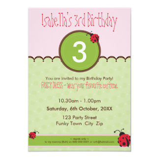BIRTHDAY PARTY INVITES :: ladybird 4P
