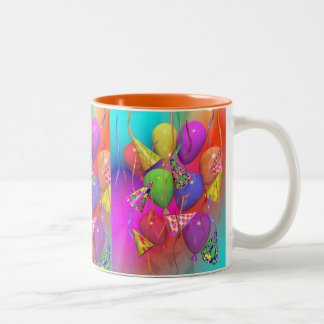Birthday Party Life Two-Tone Coffee Mug