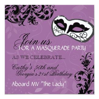 Birthday Party Masquerade Invitation