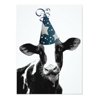 Birthday Party or Baby Shower Party Cow! Card