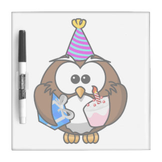 Birthday Party Owl Dry-Erase Board