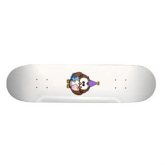 Birthday Party Owl Custom Skateboard