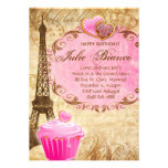 Birthday Party Paris Card Eiffel Tower Sweet 16 Pi