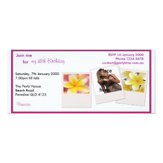 Birthday Party Personalized Card