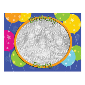 Birthday Party Photo Invitation Template Postcard