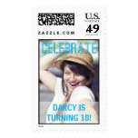 Birthday Party Photo Stamps at Zazzle