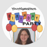 Birthday Party Photo Stickers