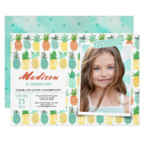 Birthday Party | Pineapple Fruit | Invitations