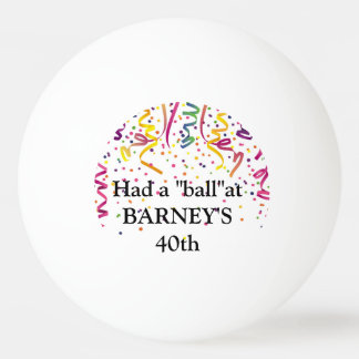 Birthday Party Ping Pong Ball Favors