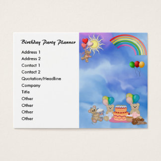 Birthday Party Planner Profile Card