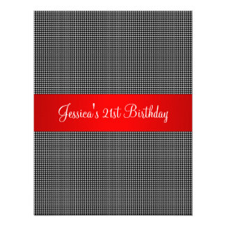 Birthday Party Red Black & White Small Dots Invites