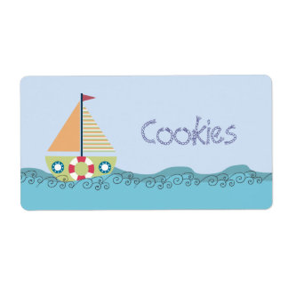 Birthday Party Sail Boat Yacht Stickers Labels