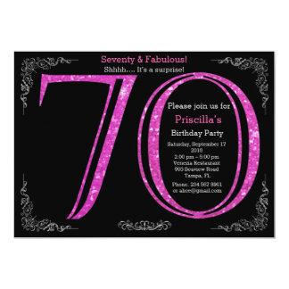 Birthday party, Seventy, great Gatsby,black silver Card