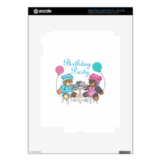 BIRTHDAY PARTY DECALS FOR iPad 3
